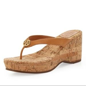 Tory Burch Suzy Cork Wedge Platform Thong Sandals